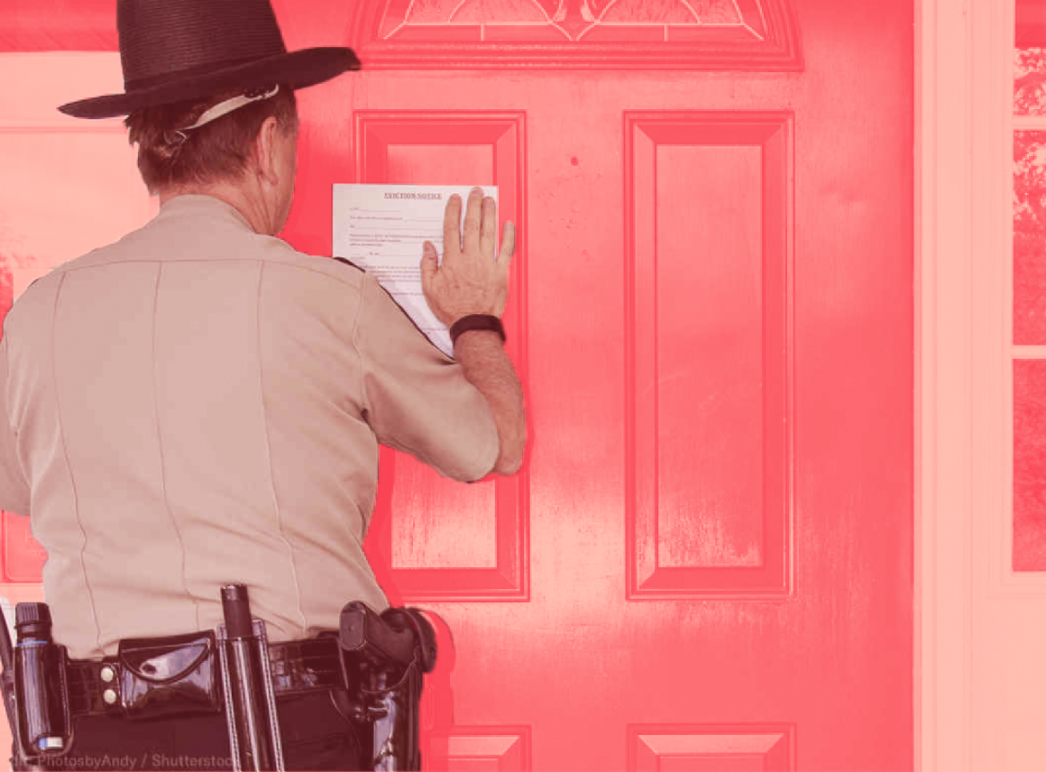 Sheriff with eviction notice